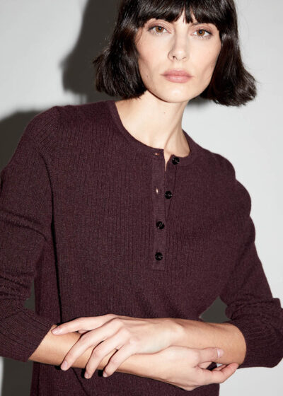 ALYKI - C1201 - Seraph sweater with little ribbed mesh - 001