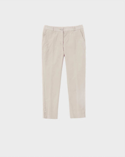 ROSSO35 - N1212P - Cotton straight-leg trousers - 002