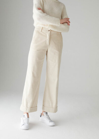 ROSSO35 - N1328P - Curdoroy wide-leg trousers - 001