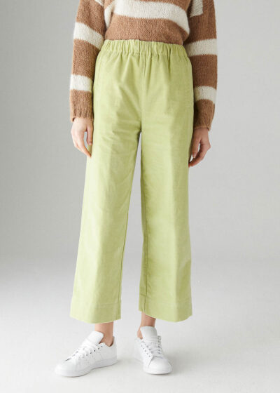 ROSSO35 - N1330P - Elasticated-waist wide leg trousers - 001