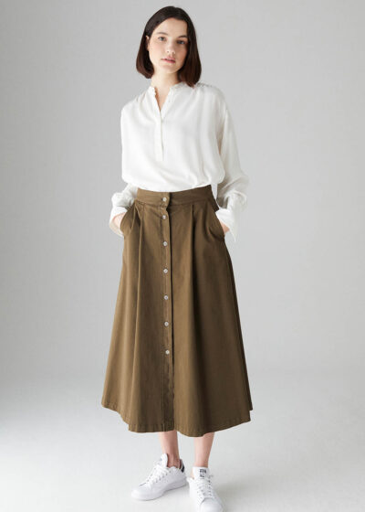 ROSSO35 - N1337G - Cotton long skirt - 001