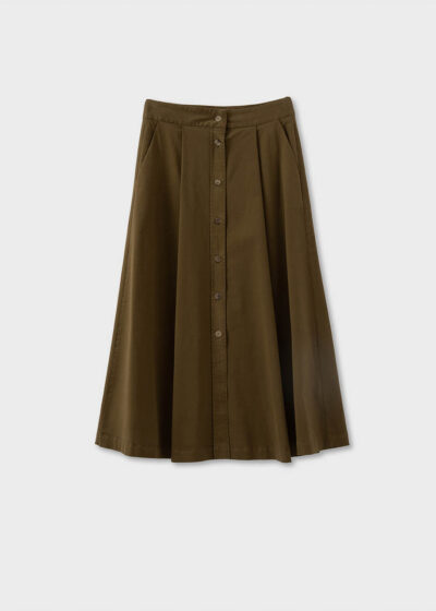 ROSSO35 - N1337G - Cotton long skirt - 002