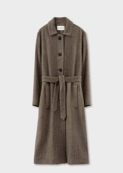 ROSSO35 - S5738A - Supersoft Long Light Belted  Coat - 002