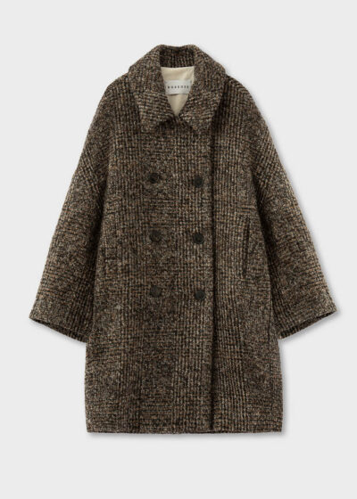 ROSSO35 - S5742A - Oversize Alpaca blend double-breasted coat - 002