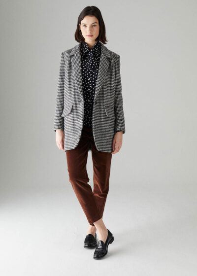 ROSSO35 - S5743A - Supersoft long Blazer - 001