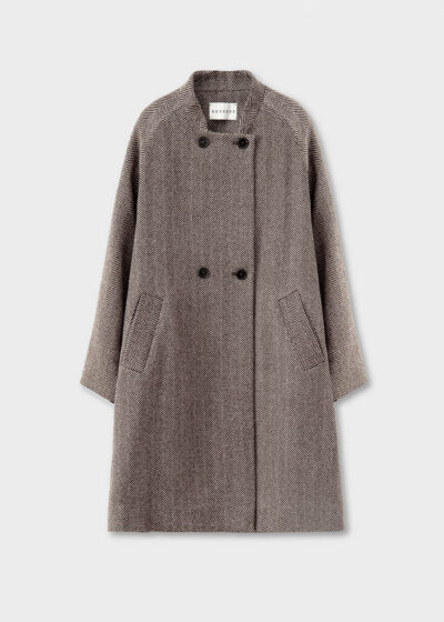 ROSSO35 - S5746A - Supersoft Double-breasted Coat - 002