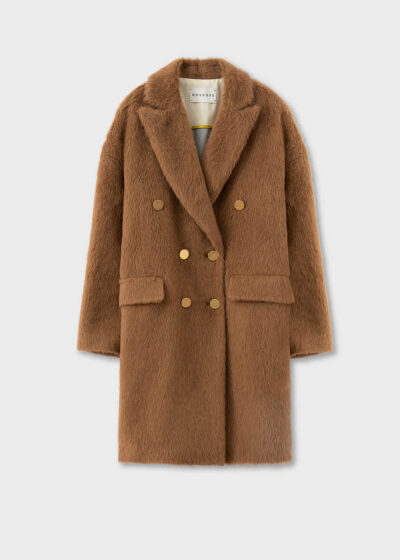 ROSSO35 - S5748A - Double-breasted baby Lama coat - 002