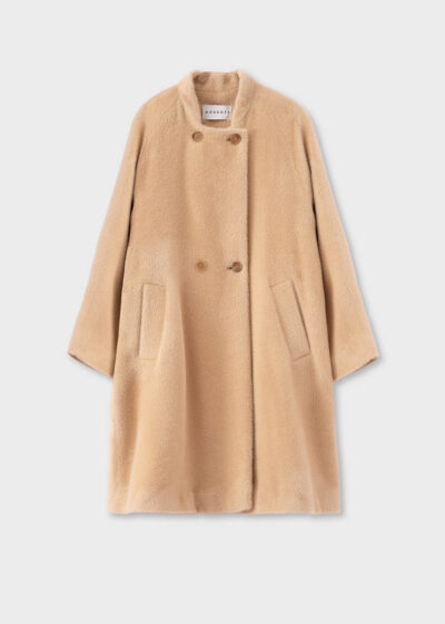 ROSSO35 - S5751A - Double-breasted flared alpaca coat - 002