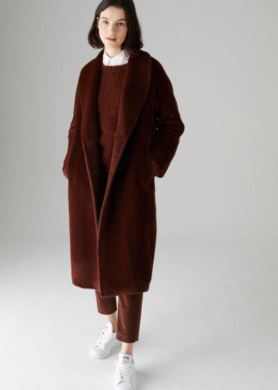 ROSSO35 - S5753A - Double-breasted tailoring alpaca coat - 001