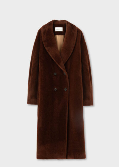 ROSSO35 - S5753A - Double-breasted tailoring alpaca coat - 002