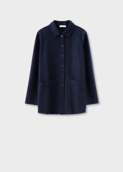 ROSSO35 - S5756A - Felted shirt-jacket - 002