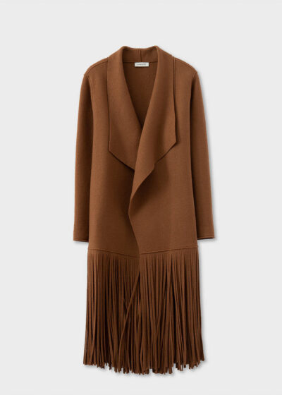 ROSSO35 - S5763A - Fringed boiled-wool coat - 002