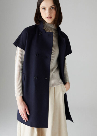 ROSSO35 - S5770A - Pressed-wool short-sleeved coat - 001