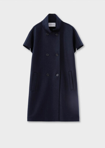 ROSSO35 - S5770A - Pressed-wool short-sleeved coat - 002