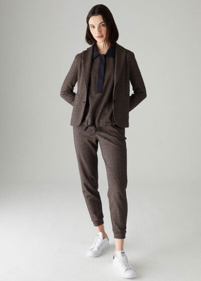 ROSSO35 - S5794PJ - Cotton and wool track pants - 001