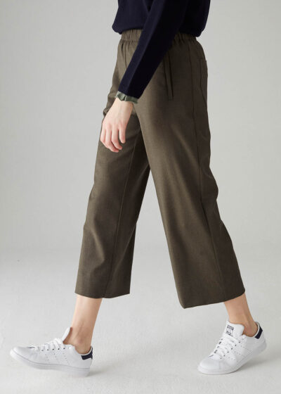 ROSSO35 - S5807P - Elasticated-waist wide trousers - 001
