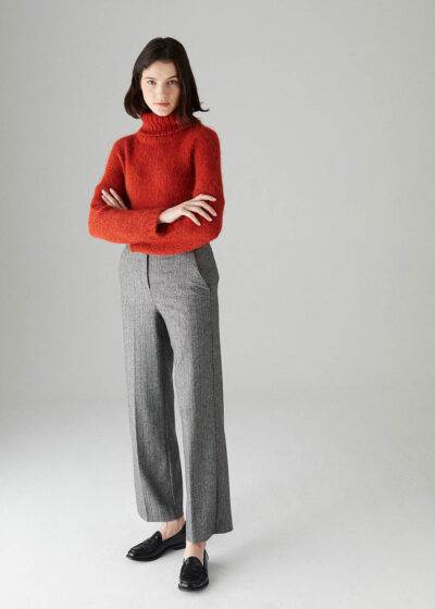 ROSSO35 - S5817P - Pleated high-waist trousers - 001