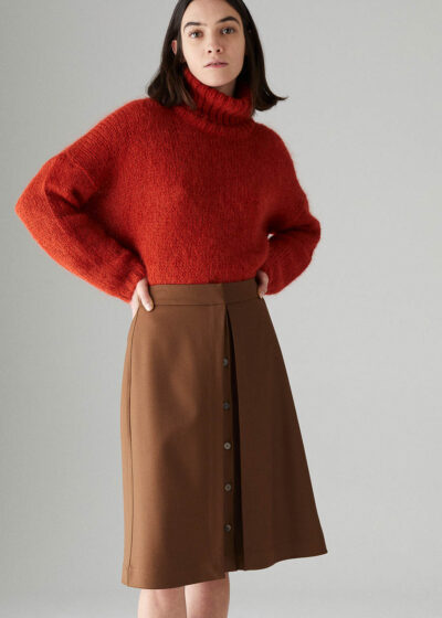 ROSSO35 - S5837G - Buttoned skirt - 001