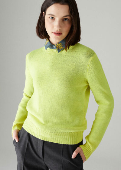 ROSSO35 - S5896MG - Superfine merinos fitted sweater - 001