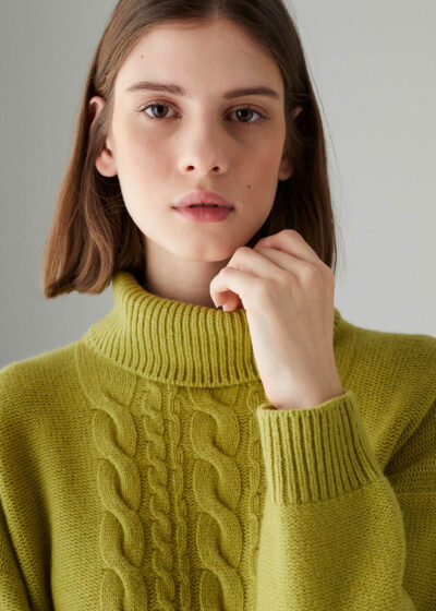 ROSSO35 - S5898MG - Wool-silk-cachemire sweater - 001