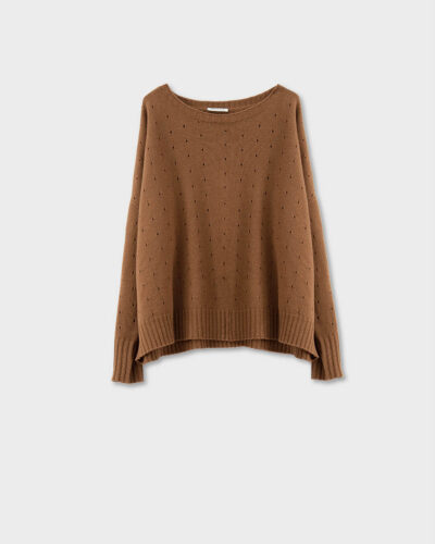 ROSSO35 - S5906MG - Wool-silk-cachemire detailed sweater - 002
