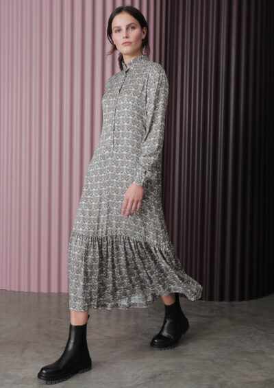 ANNAMARIA PALETTI - FIORE - Dress with viscouse printing - 002