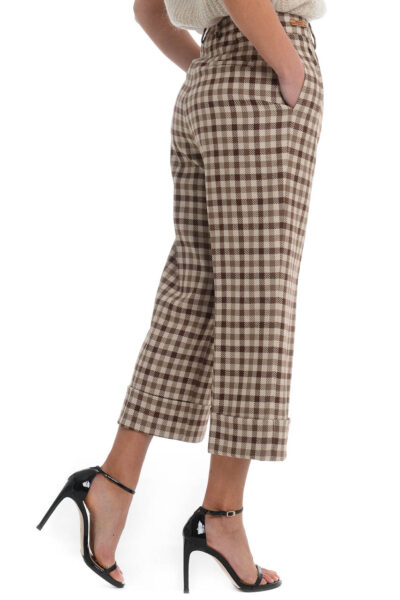 BERWICH WOMAN - 2021 - Trousers with two pleats. wide leg with turn-up - 002