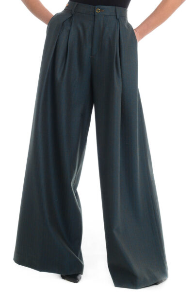 BERWICH WOMAN - 3102 - Trousers with one pleat and extra-wide leg - 001
