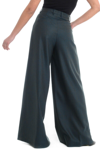 BERWICH WOMAN - 3102 - Trousers with one pleat and extra-wide leg - 002