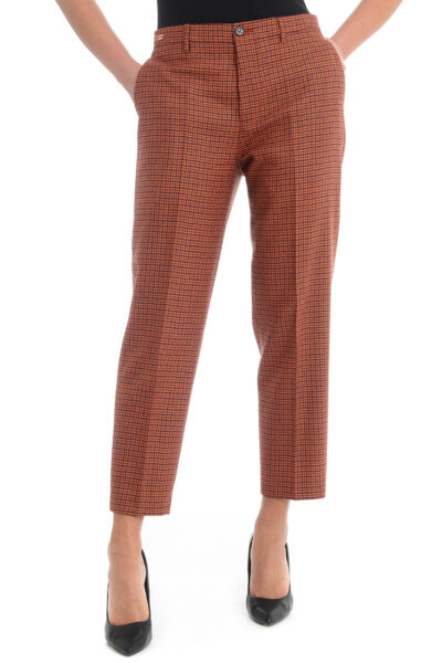 BERWICH WOMAN - chicca - High-waist boyfit trousers with ankle lenght. - 001