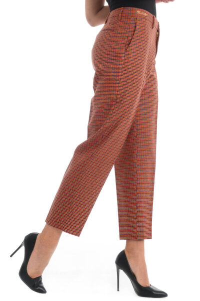 BERWICH WOMAN - chicca - High-waist boyfit trousers with ankle lenght. - 002