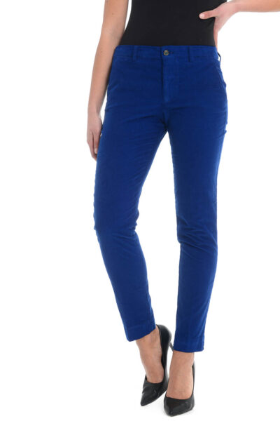 BERWICH WOMAN - laura67 - Slim fit trousers with high waist and capri lenght - 002