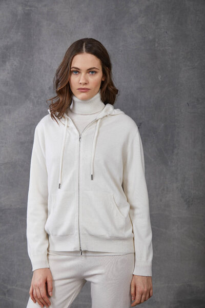 KANGRA WOMAN - W2_A_3512_11 - jacket with zip and hood - 002