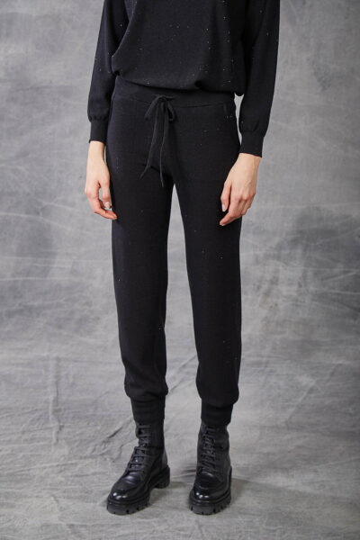 KANGRA WOMAN - W2_A_3950_15 - jogging pants with micro-sequins - 001
