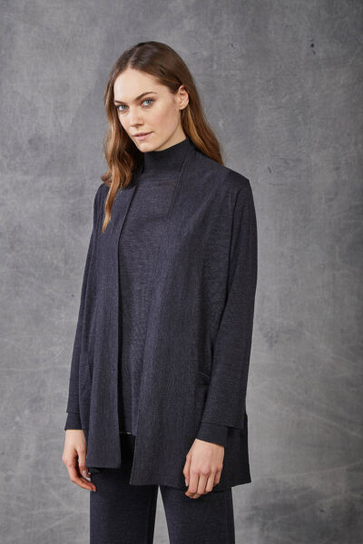 KANGRA WOMAN - W2_A_3961_04 - cardigan with pocket s and wide placket - 002