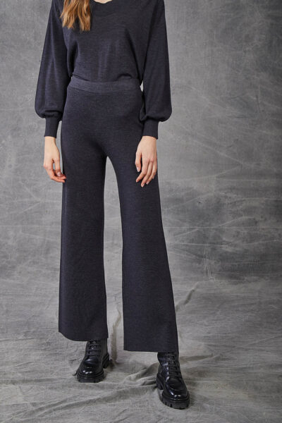 KANGRA WOMAN - W2_A_3968_15 - wide-fitting trouser s in fabric stitch - 001