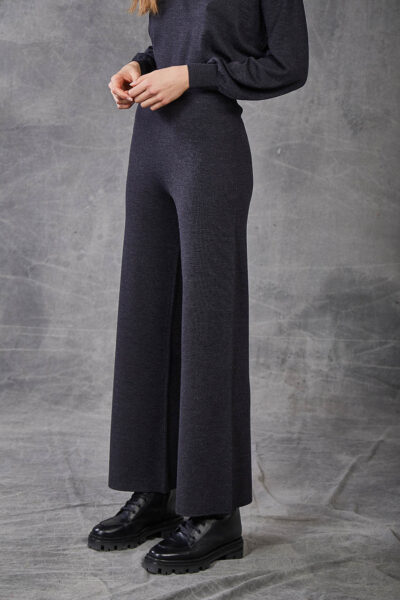 KANGRA WOMAN - W2_A_3968_15 - wide-fitting trouser s in fabric stitch - 002