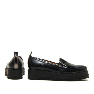 MICHELE LOPRIORE - 308Z - Leather sneaker with high-crepe rubber sole - 001