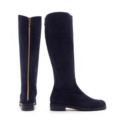 MICHELE LOPRIORE - 5200 - To-the-knee nappa leather boots with golden zipline - 001