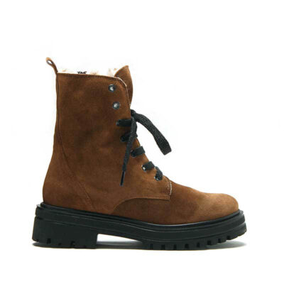 MICHELE LOPRIORE - 532 - Nappa leather combat boots with eco-furry soul - 001