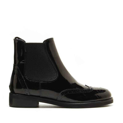 MICHELE LOPRIORE - 5585 - Patent leather chelsea boots - 001