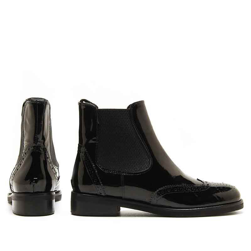 MICHELE LOPRIORE - 5585 - Patent leather chelsea boots - 002