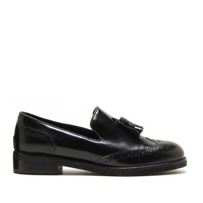 MICHELE LOPRIORE - 6000IN - Nappa leather loafer with tassels - 001