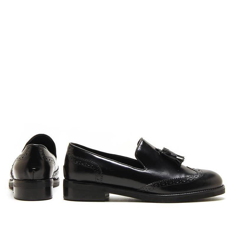 MICHELE LOPRIORE - 6000IN - Nappa leather loafer with tassels - 002