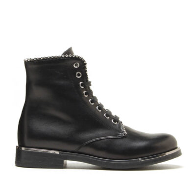 MICHELE LOPRIORE - 6792 - Nappa leather combat boots with studs profile - 001
