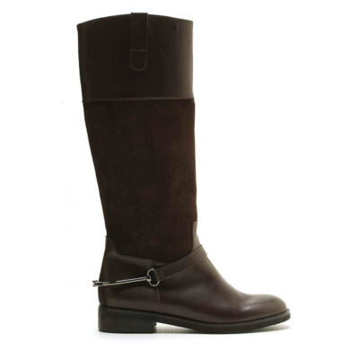 MICHELE LOPRIORE - 6947 - Suede and leather boots - 001