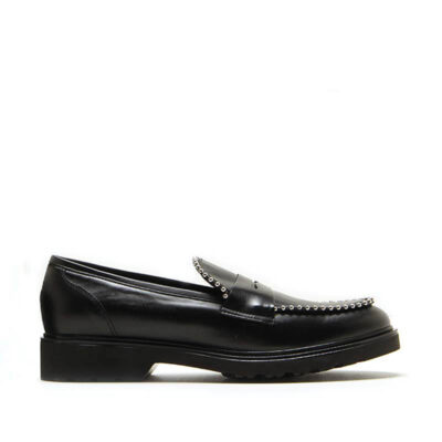 MICHELE LOPRIORE - 7054IN - Nappa leather loafer with studs - 001