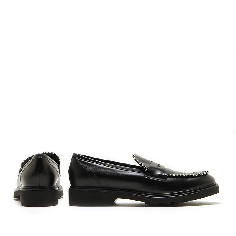 MICHELE LOPRIORE - 7054IN - Nappa leather loafer with studs - 002