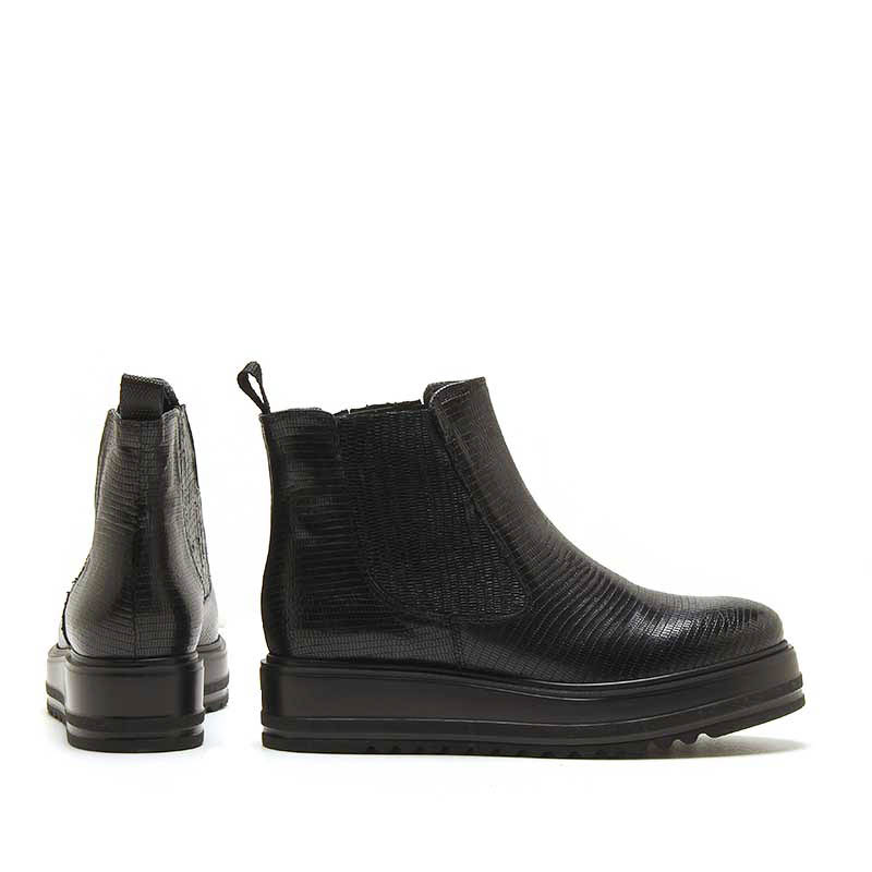 MICHELE LOPRIORE - 7062 - Tejus leather chelsea boots with high-crepe rubber sole - 002