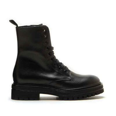 MICHELE LOPRIORE - 7097 - Leather combat boots with studs - 001
